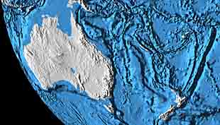 Australia and ocean trenches